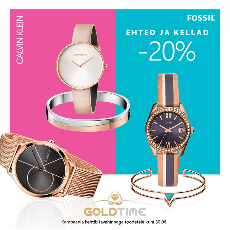 00b7f91b008 Fossil ja Calvin Klein kellad ja ehted -20%!   Nautica